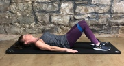 Band bridges/glute raises