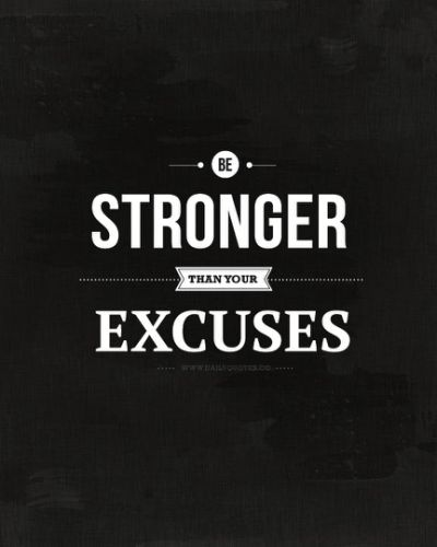 There are no excuses inheaven…